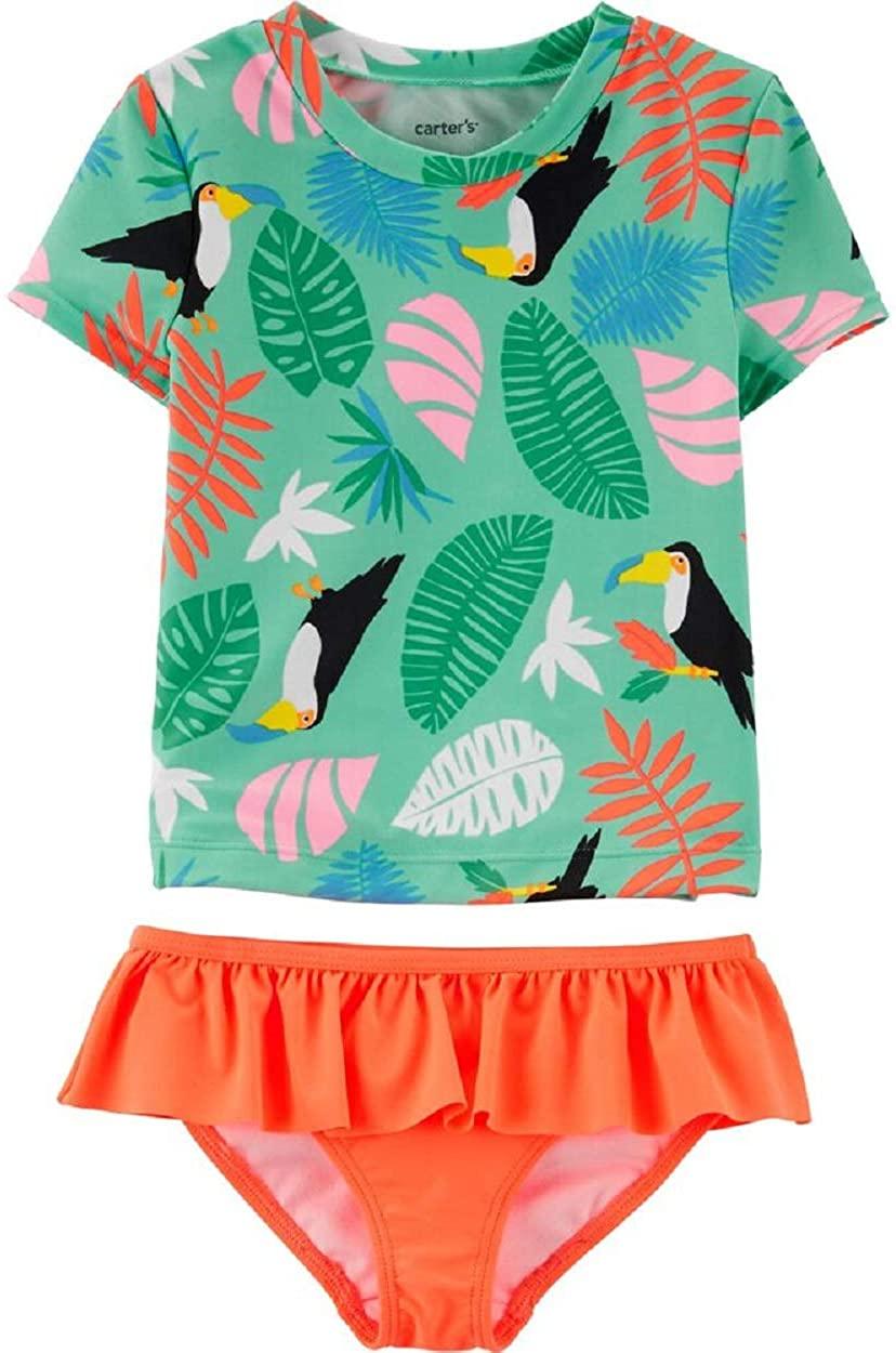 Carters Tropical Print Toucan 2-Piece Rashguard Set Size 4T