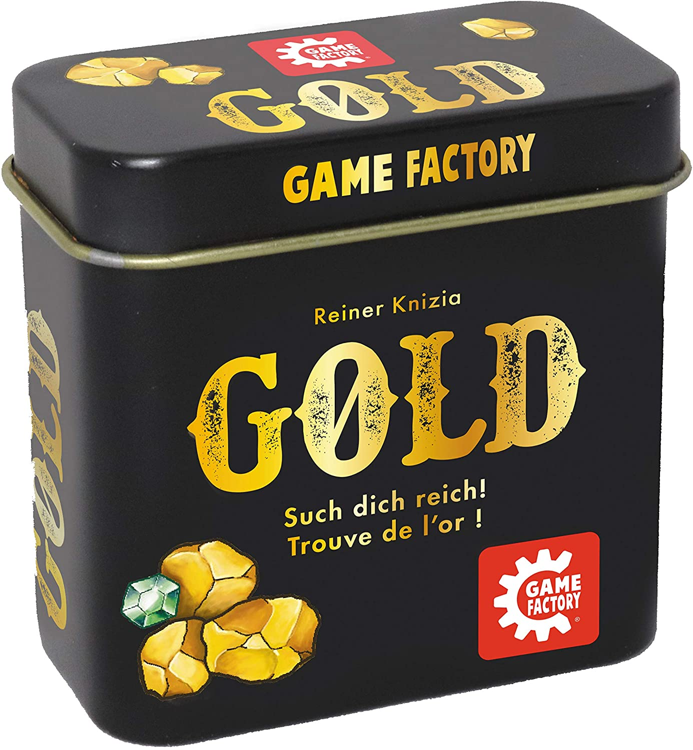 Game Factory 646252 Gold Mini Card Game in Handy Metal Tin