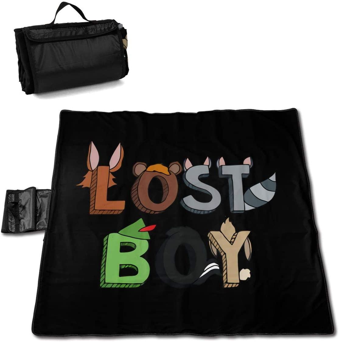 Kelo Lost Boy Portable Printed Picnic Blanket Waterproof 59x57(in)
