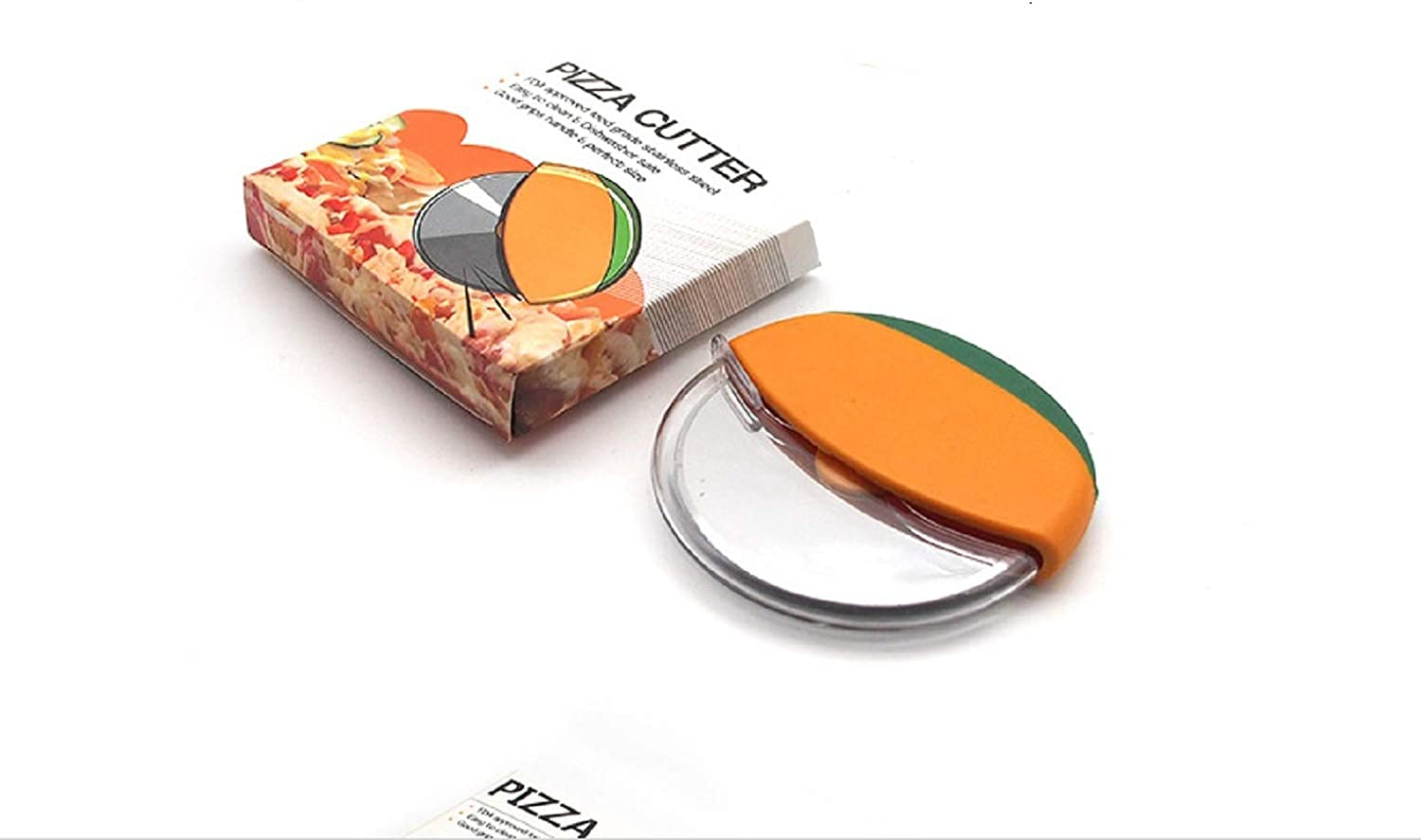 MILLER KITCHEN's, Stainless Steel Pizza Cutter Wheel with Protective Blade Guard, Easy To Clean (YELLOW)
