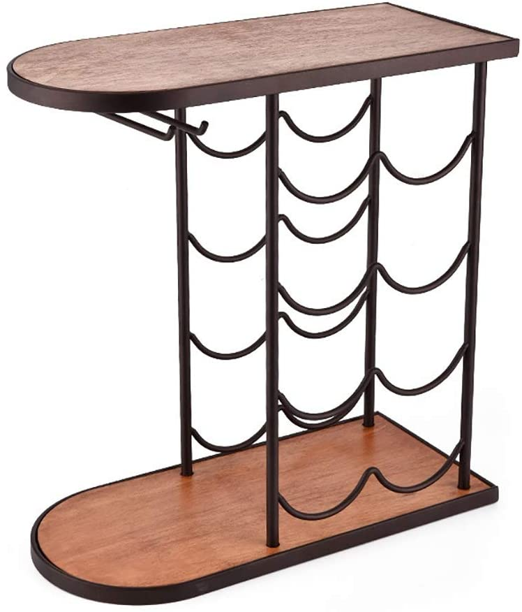 Marching orchid Wine Rack,8 Bottles Wine Rack Display Tabletop 4-Tier Wine Stand European Style 2 Wine Glass Holder Interior Decorations, Creative Wine Rack