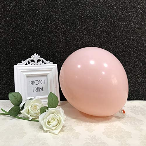 Party Pastel Balloons 100 pcs 10''Macaron Candy Colored Latex Balloons for Birthday Wedding Engagement Anniversary Christmas Festival any Friends & Family Party Decorations-pastel orange/blush balloon