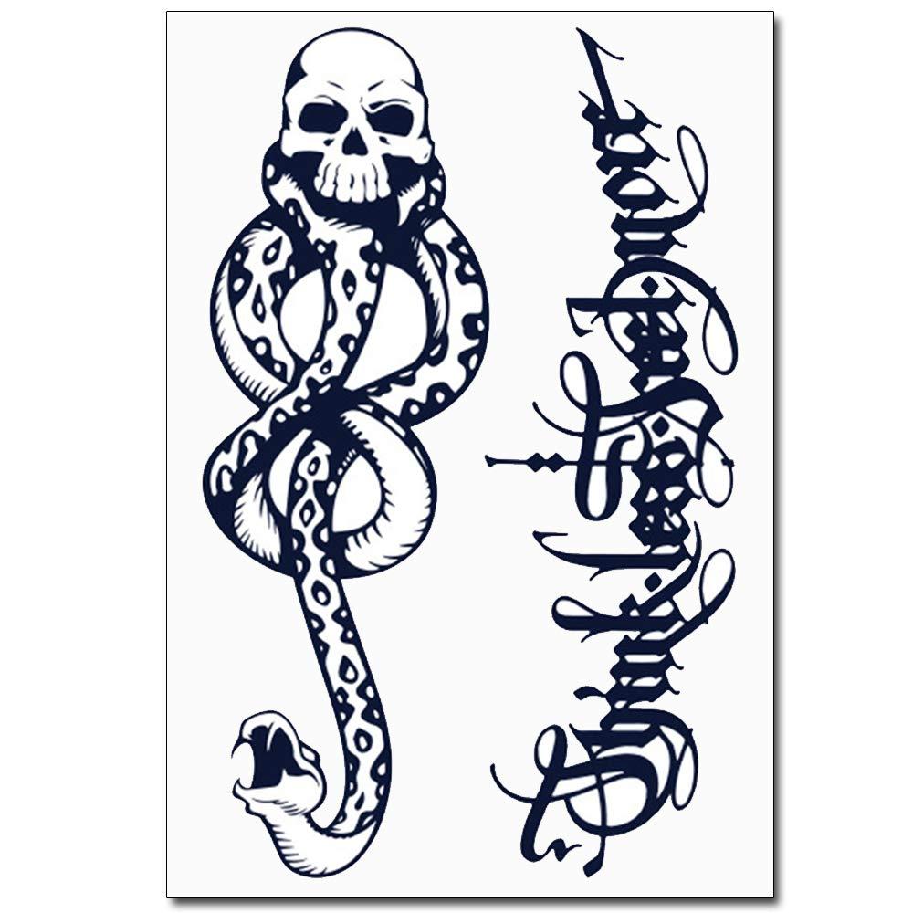glaryyears Semi Permanent Tattoo Sticker — 6 Pieces Temporary Tat Stickers 44 Tattoo Designs Words Symbols Long lasting Waterproof for Women Men