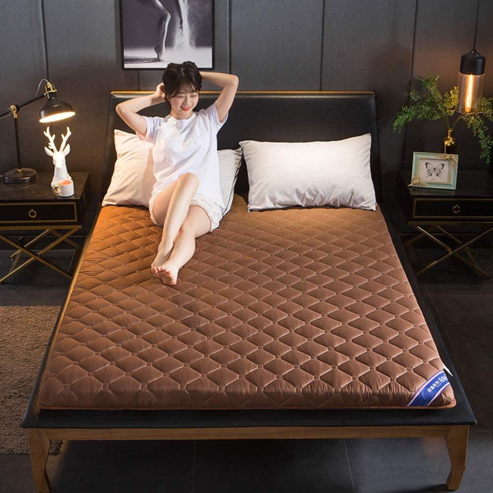 YQ WHJB Japanese Tatami Mattress, Ultra Soft Breathable Floor Futon Mattresses Sleeping Pad Foldable Guest Mattress-brown-5cm 150x200cm(59x79inch)