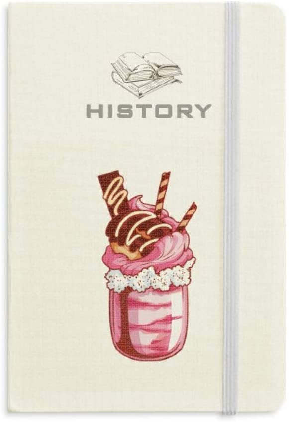 Cream Chocolate Biscuits Ice Cream History Notebook Classic Journal Diary A5