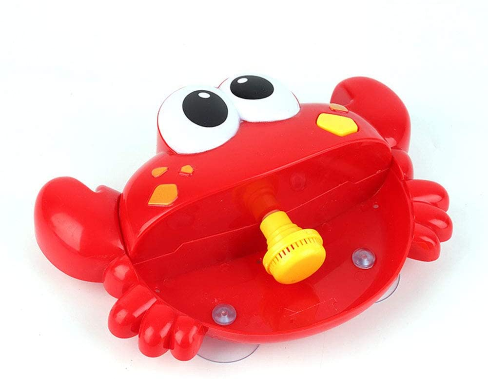 BeesClover Cute Cartoon Crab Shape Bubble Machine Water Playing Toy for Kids Bathroom Bathing