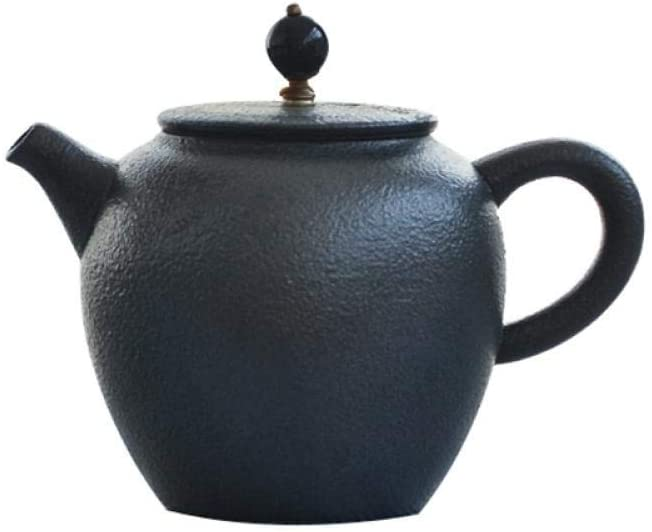 KONGZIR Ceramic Teapot Black Crockery Ceramic Teapot Kettle Porcelain Tea Pot Household Gongfu Teapots 300Ml