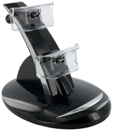 eForBuddy Dual USB Charging Dock Stand with LED Indicator for Sony PlayStation 3 PS3 Controller, Black