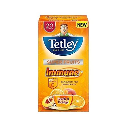 Tetley Super Fruit Tea Immune Peach & Orange 20 per pack - Pack of 4