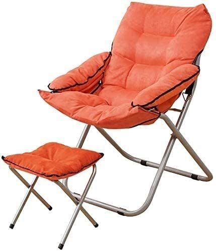 Aoyo Deck Chairs Lazy Sofa Lounge Chair Armchair Folding Chair Lunch Break Portable Outdoor Fishing Chair Fabric 7 Colors (Color : A)