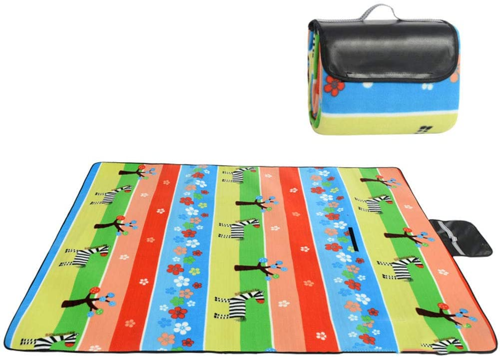 Lefran Extra Large Beach Blanket with Waterproof Backing,for Festival,Mat Camping,Outdoor Warm Fleece Picnic Blanket