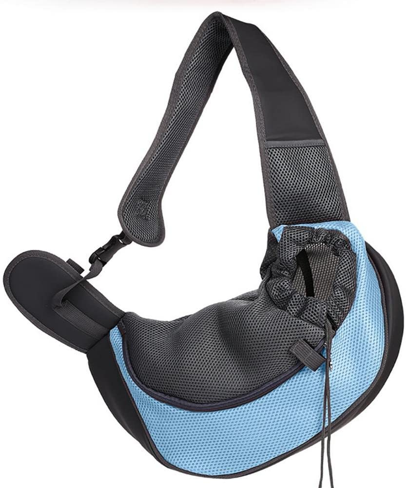 LOHUA Pet Sling/Dog cat Sling Carrier for Cats Dogs Bunny, Up to 12 lbs, Blue