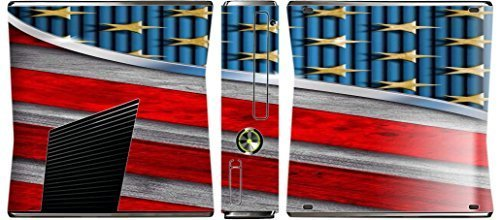 American Flag Design Print Image Xbox 360 Slim (2010) Vinyl Decal Sticker Skin by Trendy Accessories by Trendy Accessories