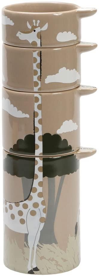 Stacking Giraffe Measuring Cups - Set of Four - Glazed Ceramic