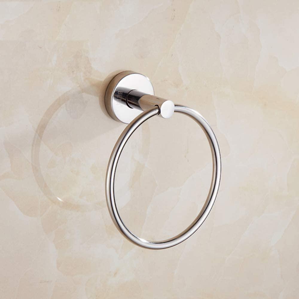 WYZBD Stainless Steel Towel Ring Bathroom Round Towel Rack Mirror Towel Ring