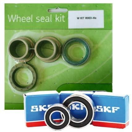SKF Rear Wheel Bearing and Seal Kit with Spacers for 00 Kawasaki KX80