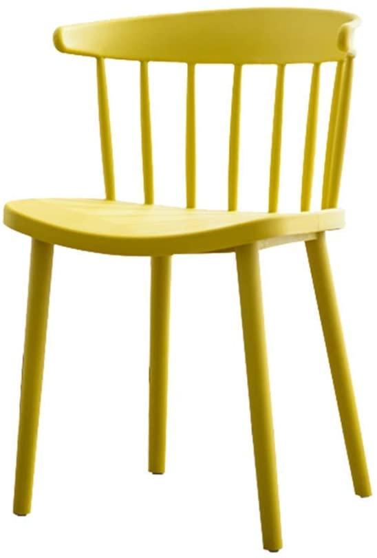 GWW Chair Leisure Chair, Modern Minimalist Plastic Lounge Chair, Home Desk Chair - Non-Slip Chair - Multi-Color Optional (Color : Black)