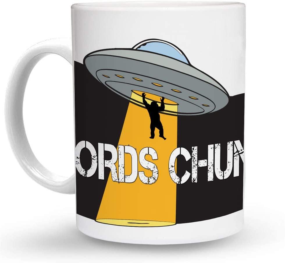 Makoroni - WORDS CHUMS Alien UFO 6 oz Ceramic Espresso Shot Mug/Cup Design#73