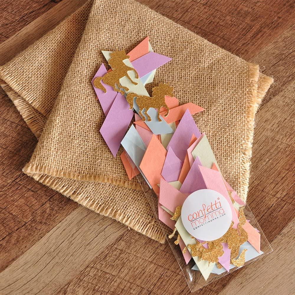 Unicorn Party Decorations. Pastel Unicorn Confetti Mix. Pastel Party Decor. 2 Packs.
