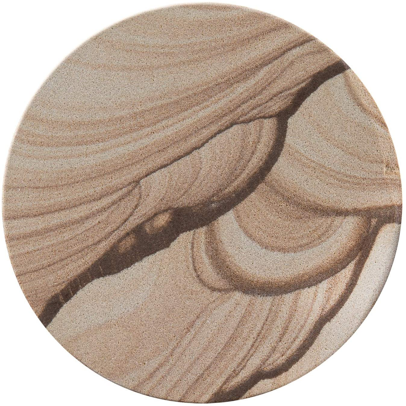 Thirstystone Brand - Desert Sand Coaster, Multicolor All Natural Sandstone - Durable Stone with Varying Patterns, Every Coaster Is An Original
