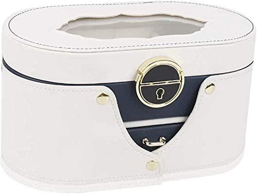 JN Jewelry Box Jewelry armoire Drawer Jewelry Girl Jewelry Organizer with Mirror, Lockable Jewelry Travel Case, Imitation Leather Style Modern Gift Box Big Jewelry Box Women's Jewelry Storage Box