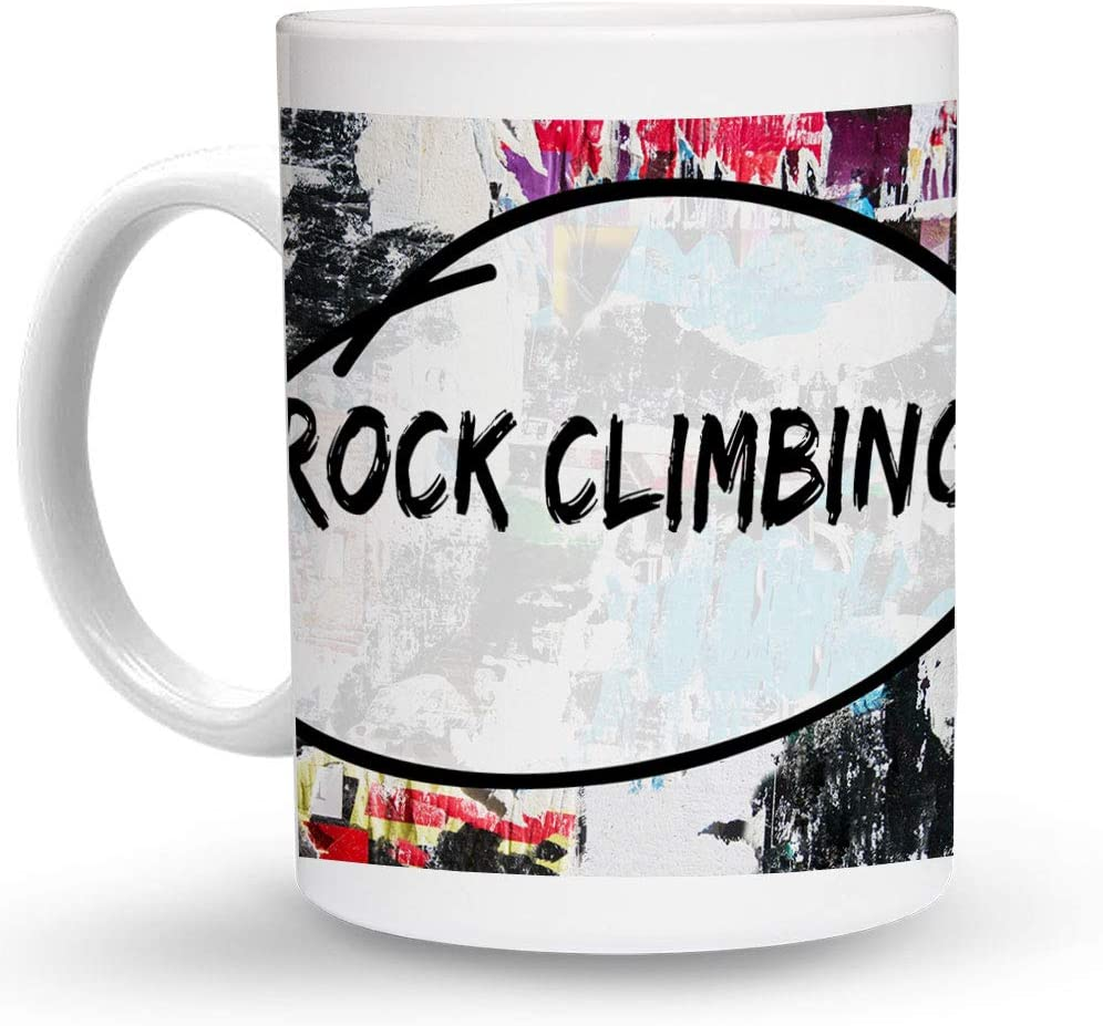 Makoroni - ROCK CLIMBING Hobby 6 oz Ceramic Espresso Shot Mug/Cup Design#20