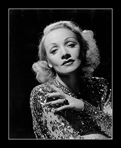 8 x 10 All Wood Framed Photo Marlene Dietrich