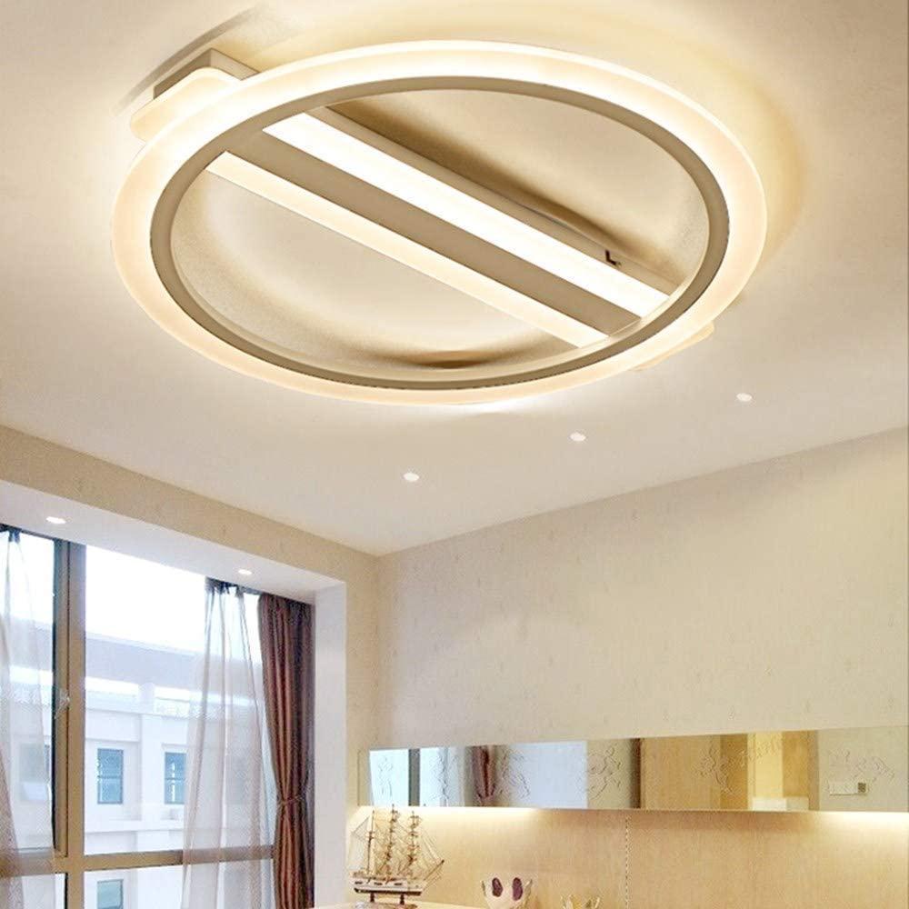 BOSSLV Led Ceiling Lamp Parlor Bedchamber Family Ceiling Lamp, 53Cm, Warm White