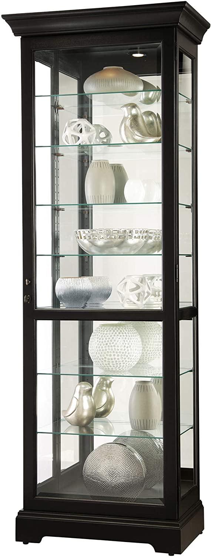 Howard Miller CHESTERBROOK III Curio Cabinet, Black Satin