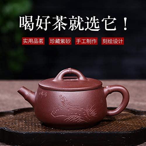 SHENLIJUAN Genuine hot tea collection ore old purple clay teapot bamboo stone scoop (Color : Purple mud)