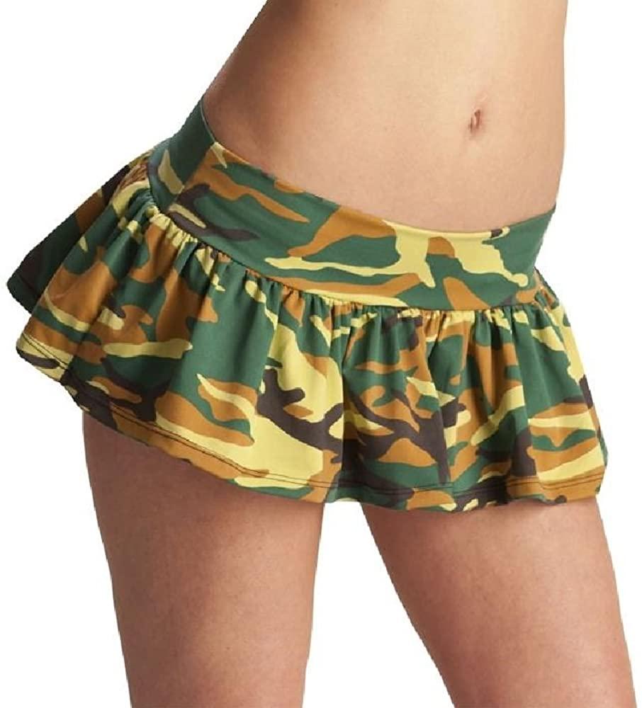 Espiral Ruffle Skirt S/M Camouflage Skirt