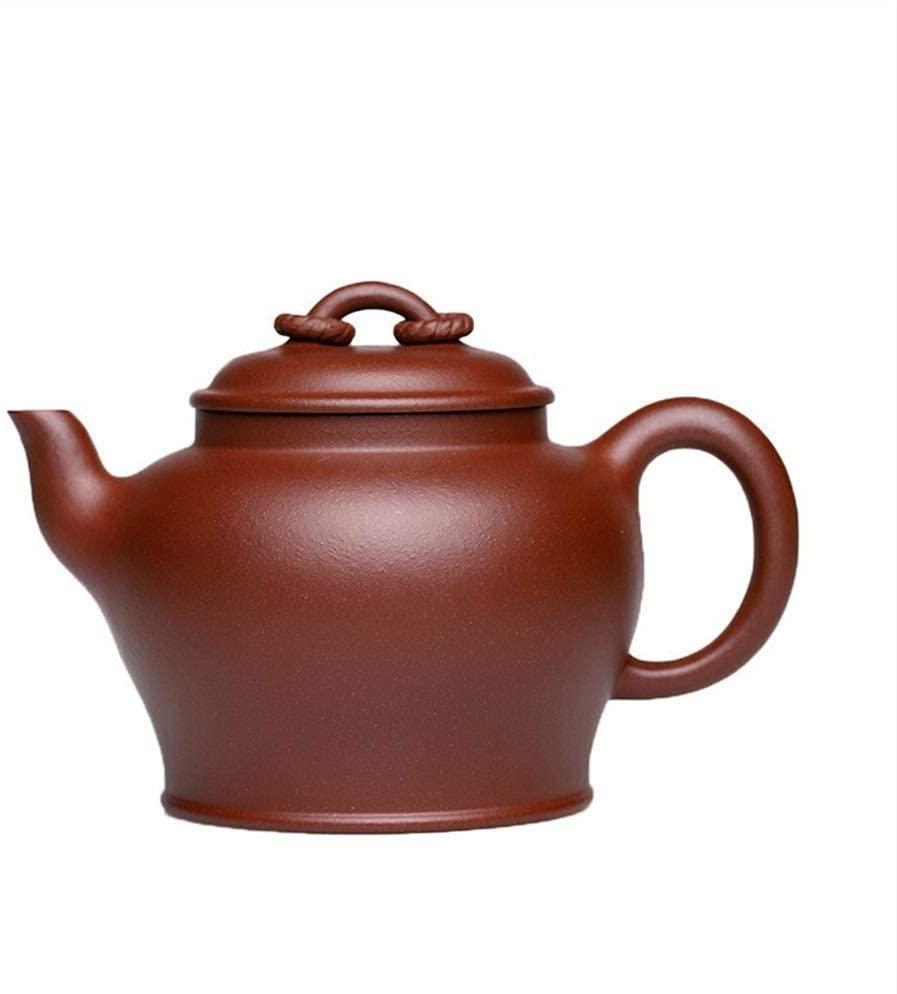 Bin Zhang Clean pot bottom groove lanterns, teapot, pure hand-teapot (Color : Red)