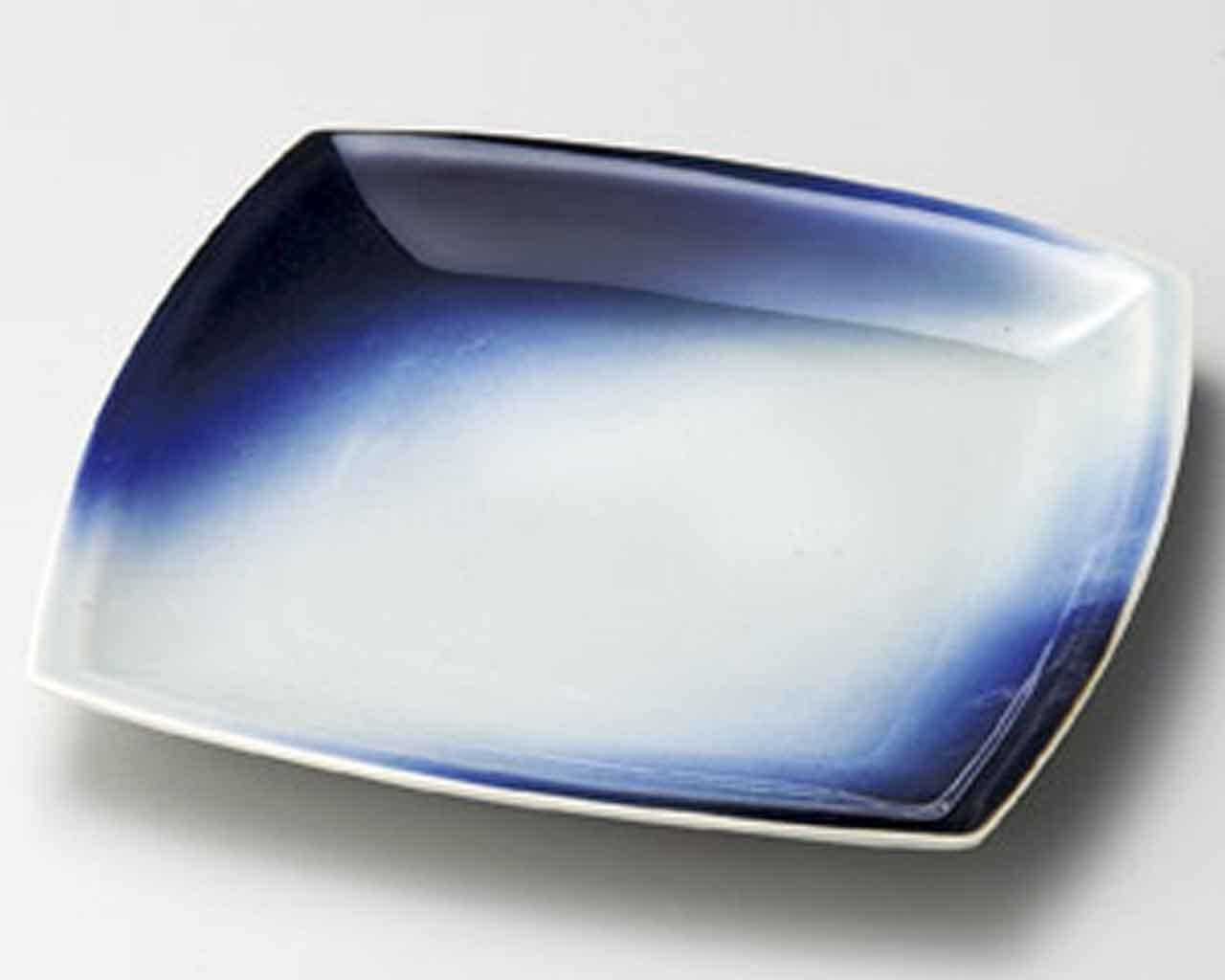 Aozora Blue Sky 8.8inch Set of 2 Medium Plates White Ceramic Made in Japan