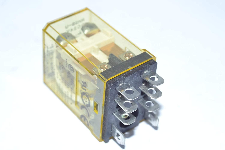 IDEC RH2B-UDC24V 8 Blade, 10 AMP, 24 VDC Coil, Relay, 240 VAC, Non Latching, RH Series, Socket, DPDT