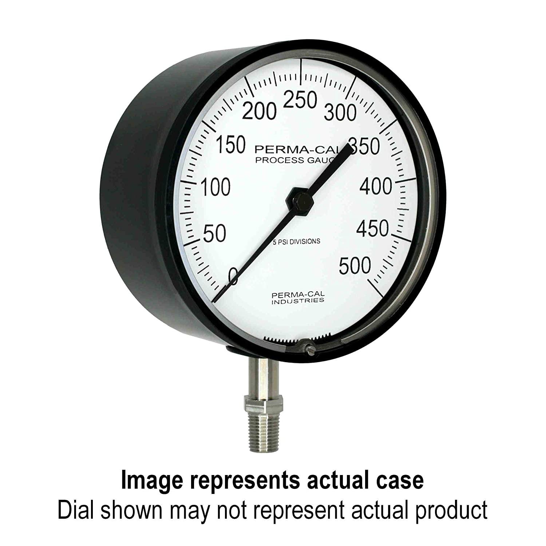 Pressure Gauge, Gearless, Process, 0-3000 psi, 4.5