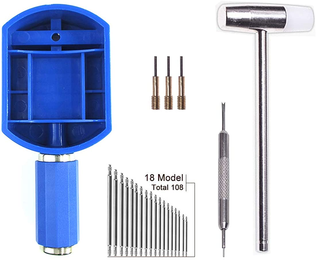 Watch Band Link Removal Tool Kit Spring Bar Tool Set for Watch Band Link Pin Removal and Watch Sizing