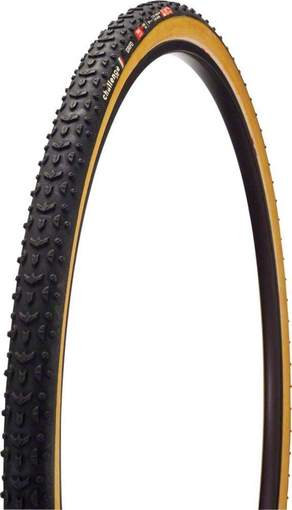 Challenge Grifo Pro Tire: Tubular, 700 x 33, 300tpi, Black/Tan