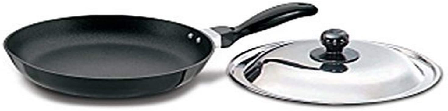 Futura Induction Hawkins Futura Non-Stick Frying Pan with Induction Base and Steel Lid, 26 cm, Small, Black