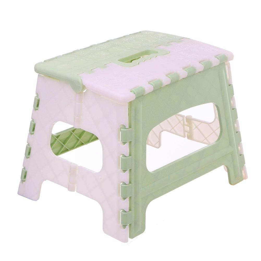 Kids Folding Step Stool, Portable 9 inch Height Foldable Lightweight Step Stool with Handle for Camping Fishing