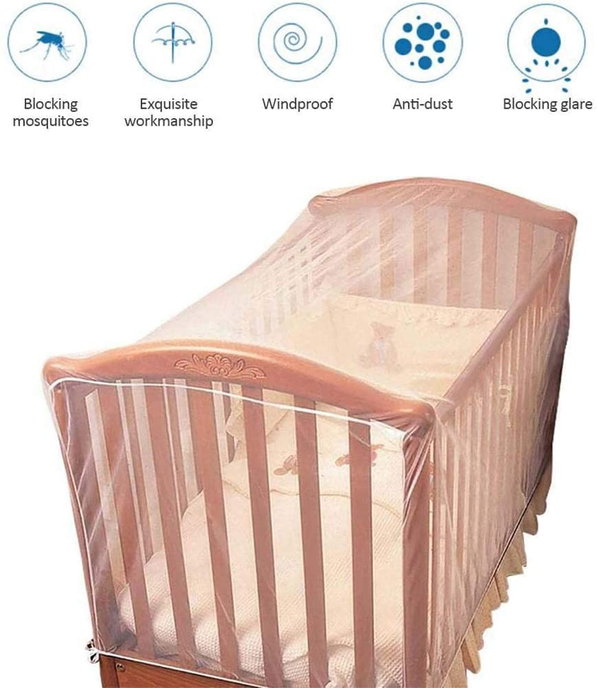 RZiioo 2PCS Mosquito Net for Crib - Baby Crib Net to Protect from Insects & Keep Baby in Safely - Playpen Netting