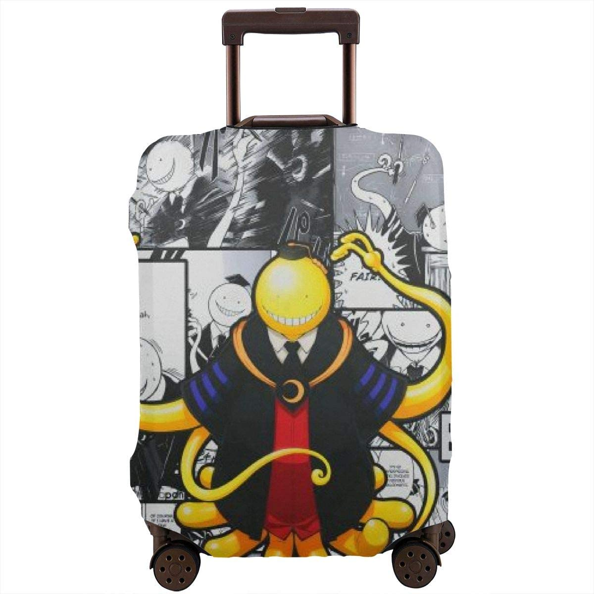 Assassination Classroom-Korosensei Anime Cartoon Suitcase Protector Cool Travel Luggage Protector Unique Print Baggage Suitcase Cover Fit L(25-28 Inch Luggage)