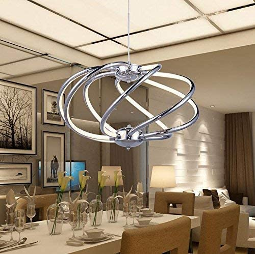 BOSSLV Modern Simple Led Parlor Chandelier Acrylic Lighting Creative European and American Restaurant Office Lighting Lamp, Warm Light