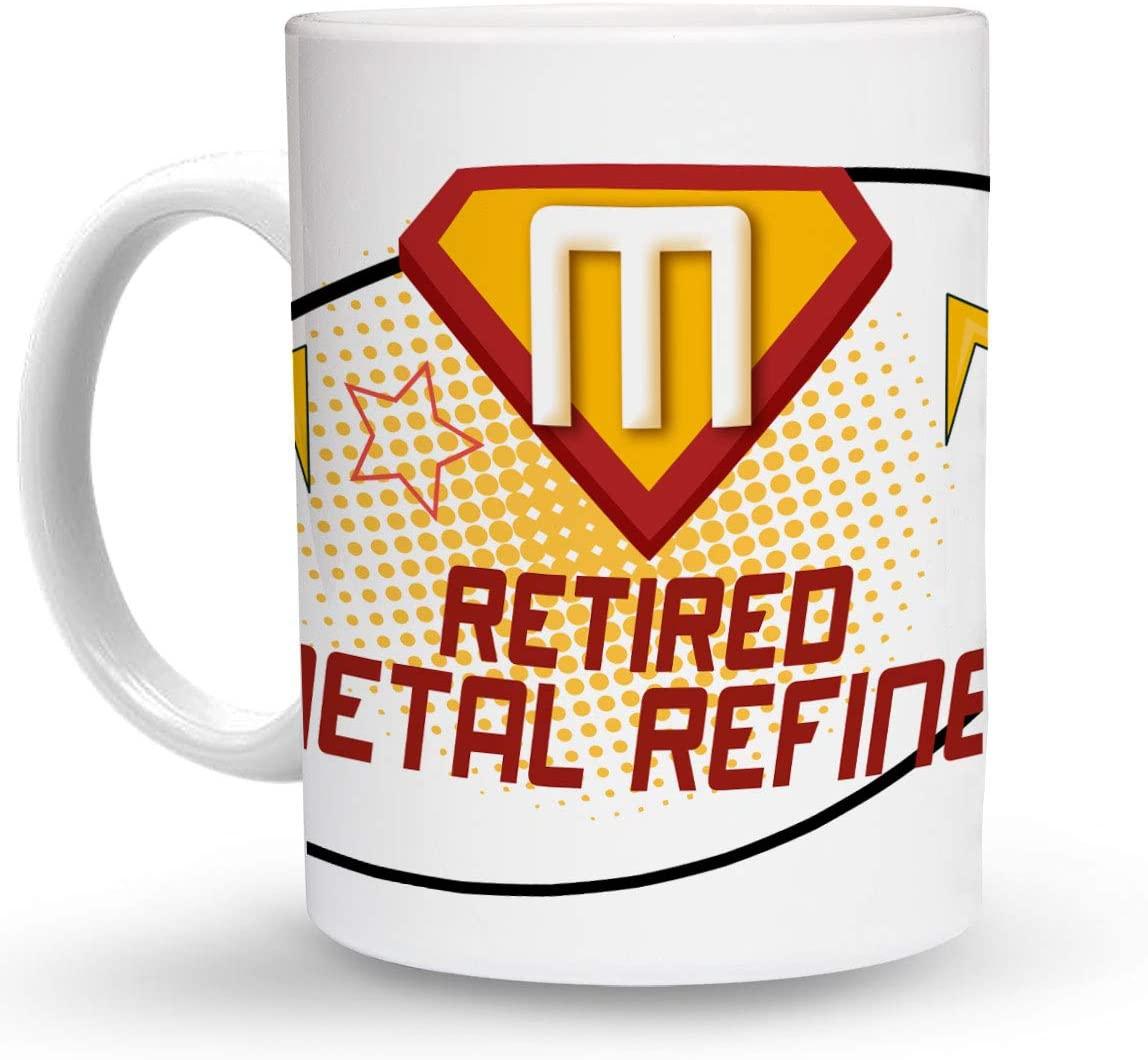 Makoroni - RETIRED METAL REFINER Career 6 oz Ceramic Espresso Shot Mug/Cup Design#42