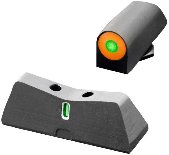 XS Sights New DXT2 Big Dot Night Sight for Glock Pistols, Front and Rear Glow in The Dark Tritium Handgun Sights for Tactical Applications