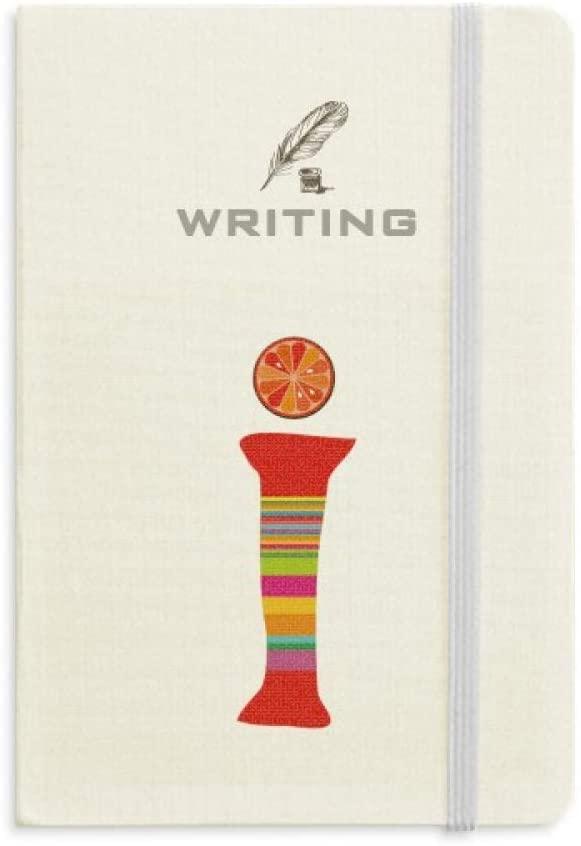 I Alphabet Orange Fruit Cute Pattern Writing Notebook Classic Journal Diary A5