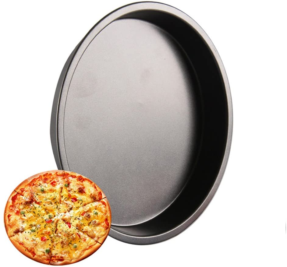 ZhiYa 3-Piece Set,Non-Stick Pizza Pans for baking Pizzas, cookies or Biscuits,8 inch