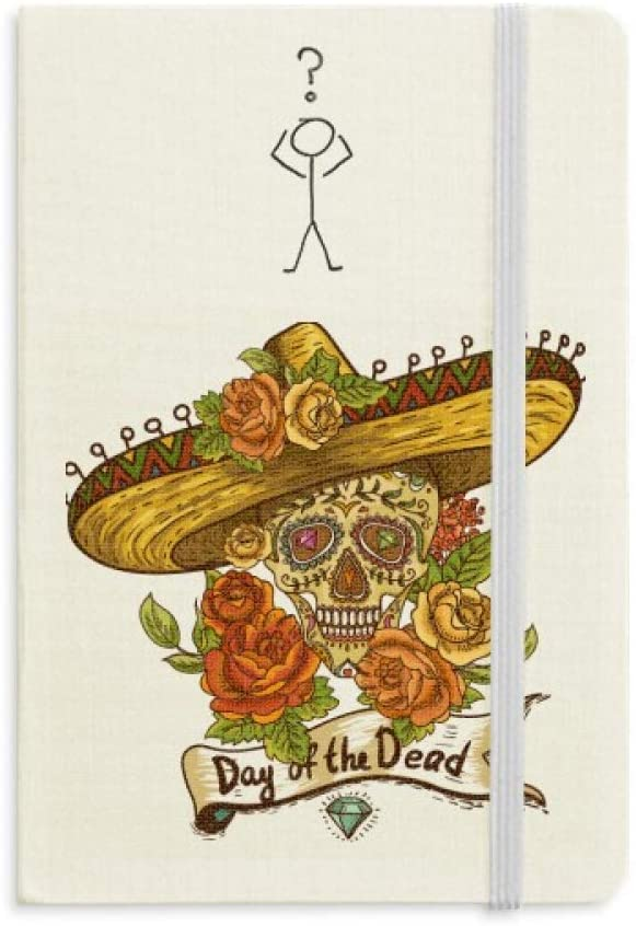 Sombrero Suger Skull Mexico Day of the Dead Question Notebook Classic Journal Diary A5