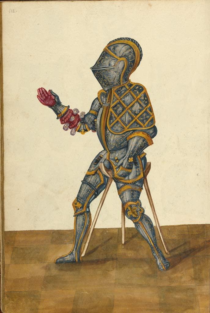 Manuscripts Print - A Man in Armor - 24