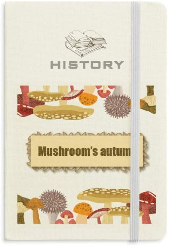 Cute Crazy Blue Mushroom Illustration History Notebook Classic Journal Diary A5