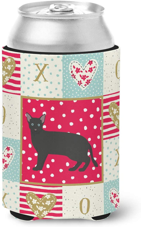 Caroline's Treasures CK5691CC Russian White Black #1 Cat Love Can or Bottle Hugger cold-beverage-koozies, Multicolor
